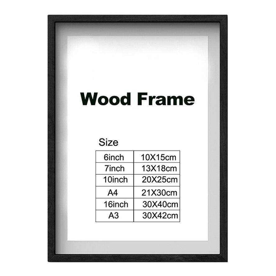 Природа деревянная классическая фоторамка А4 А3 черный белый кофе дерево цвет сертификат рамка постер фото рамка для стены