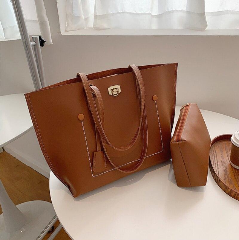 Bolso de diseñador de cuero Para Mujer, bolsa de hombro con monedero,...