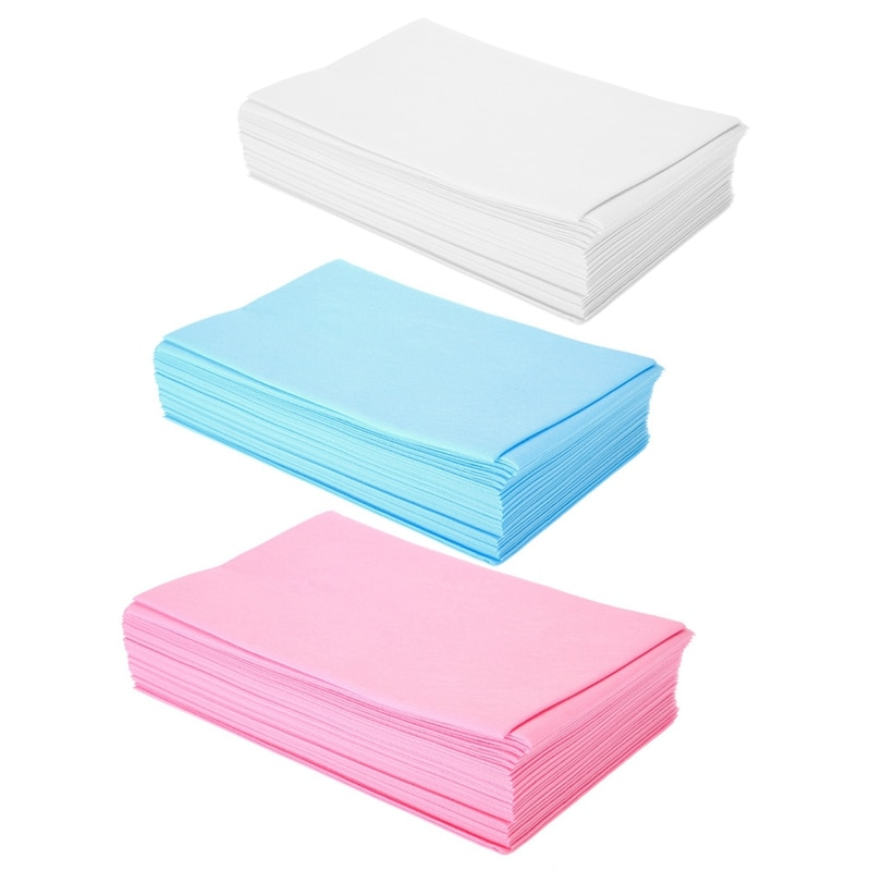 100 قطعة/المجموعة المتاح رشاقته غير المنسوجة الجمال سرير تدليك غطاء ملاءات ، 70X180cm