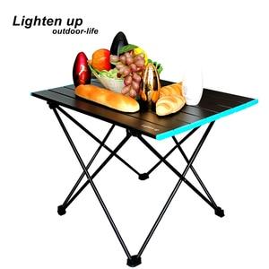 Lighten up Portable Folding Camping Table Outdoor Dinner Desk High Strength Aluminum Alloy Table for Picnic BBQ