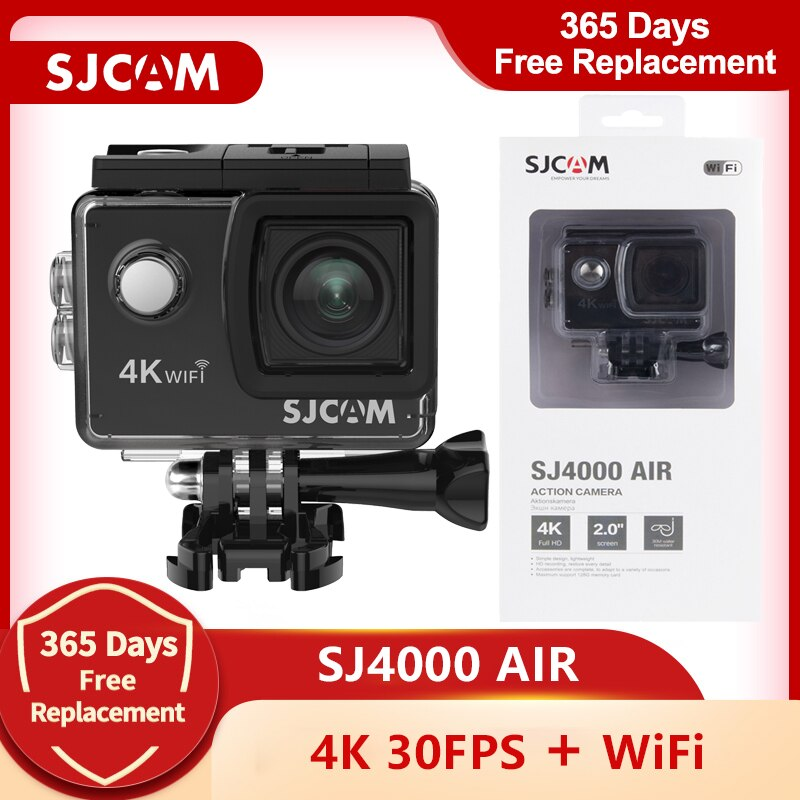 SJCAM-SJ4000 AIR Action Camera ، Full HD ، Allwinner 4K ، 30 إطارًا في الثانية ، WIFI ، شاشة 2.0 بوصة ، كاميرا رياضية صغيرة 170D تحت الماء ، مقاومة للماء ، DV