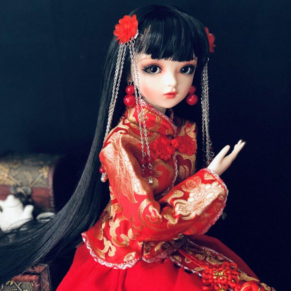 Muñeca de belleza clásica BJD de 60CM con vestido palaciego antiguo, ropa, muñeca BJD con maquillaje hecha a mano, juguetes para niñas, regalo