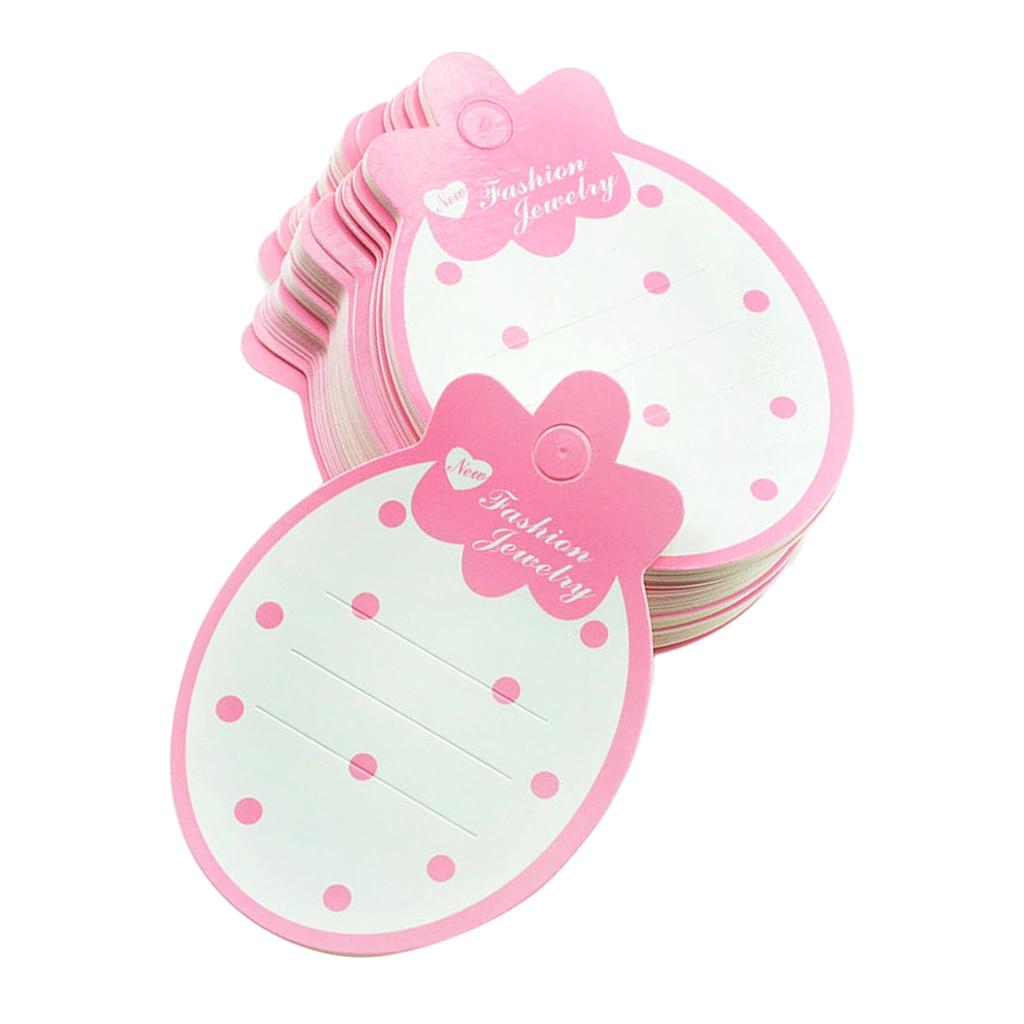 50 Clips de pelo en forma de fresa en blanco, tarjeta de embalaje, accesorios para el cabello, tarjetas de presentación