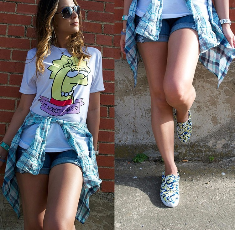INS en línea Celebrity gran oferta venta caliente Camiseta de manga corta para mujer con estampado de S-3xl