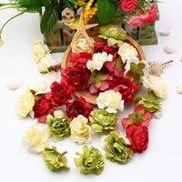 5025pcs diy artificial flower heads silk rose flower red head wedding party home decoration diy wreath scrapbook gift box craft
