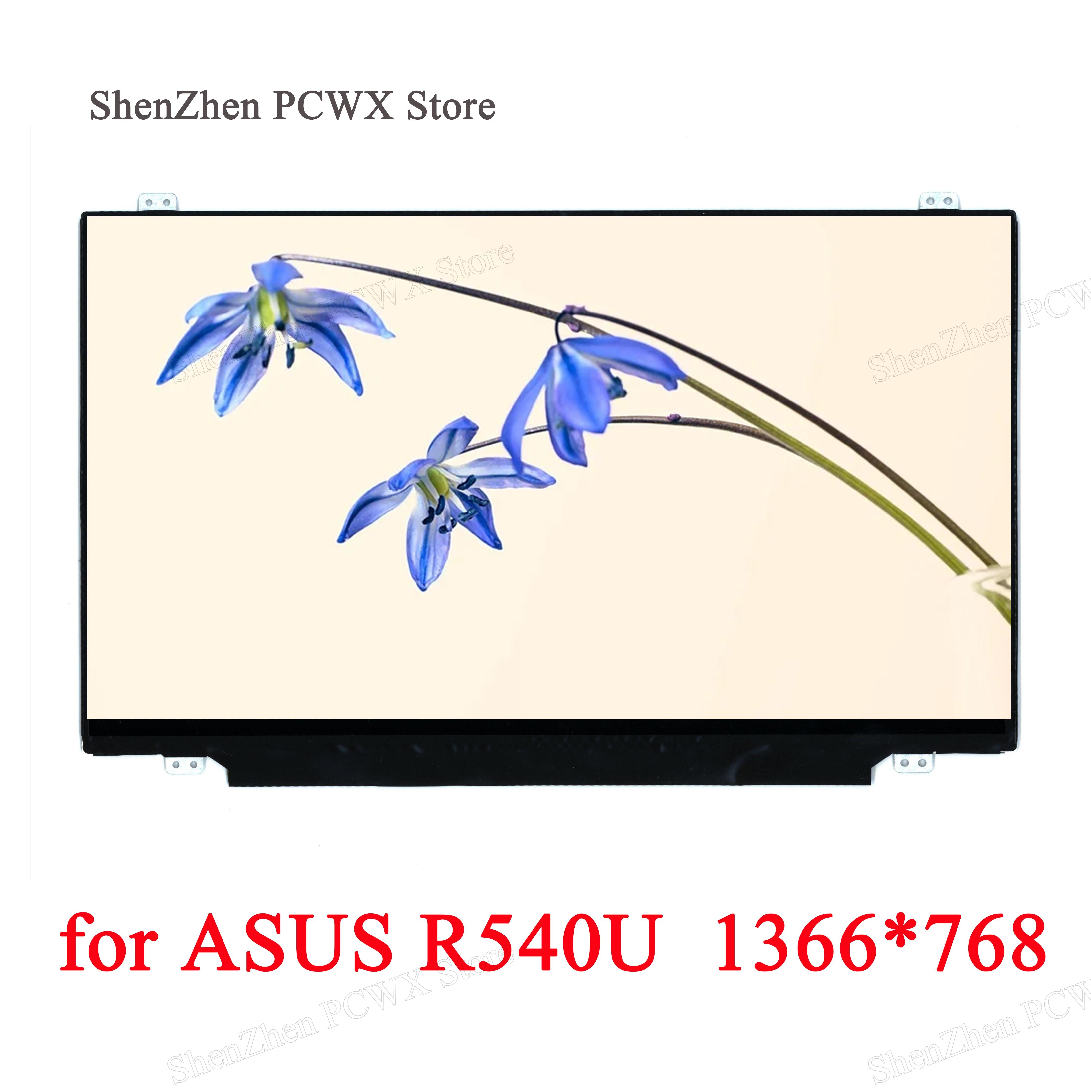 Para ASUS R540U 1366*768 HD LCD LED 15,6 Notebook eDP 30 pines matriz brillante 45% NTSC 60Hz para Innolux AUO LG BOE de nuevo