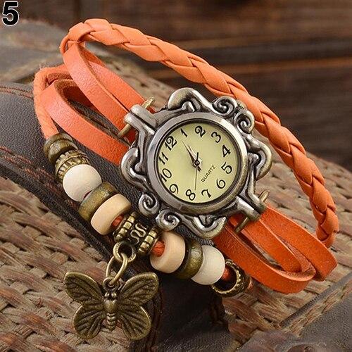 Винтажные женские наручные часы Montre Femme, женские часы ручной работы с подвеской-бабочкой, браслет, женские часы