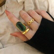 Foxanry 925แหวนเงินสเตอร์ลิงสำหรับสตรีใหม่แฟชั่นการออกแบบหินสีเขียวฝรั่งเศสVintage Partyเจ้าสาวเครื่อ...