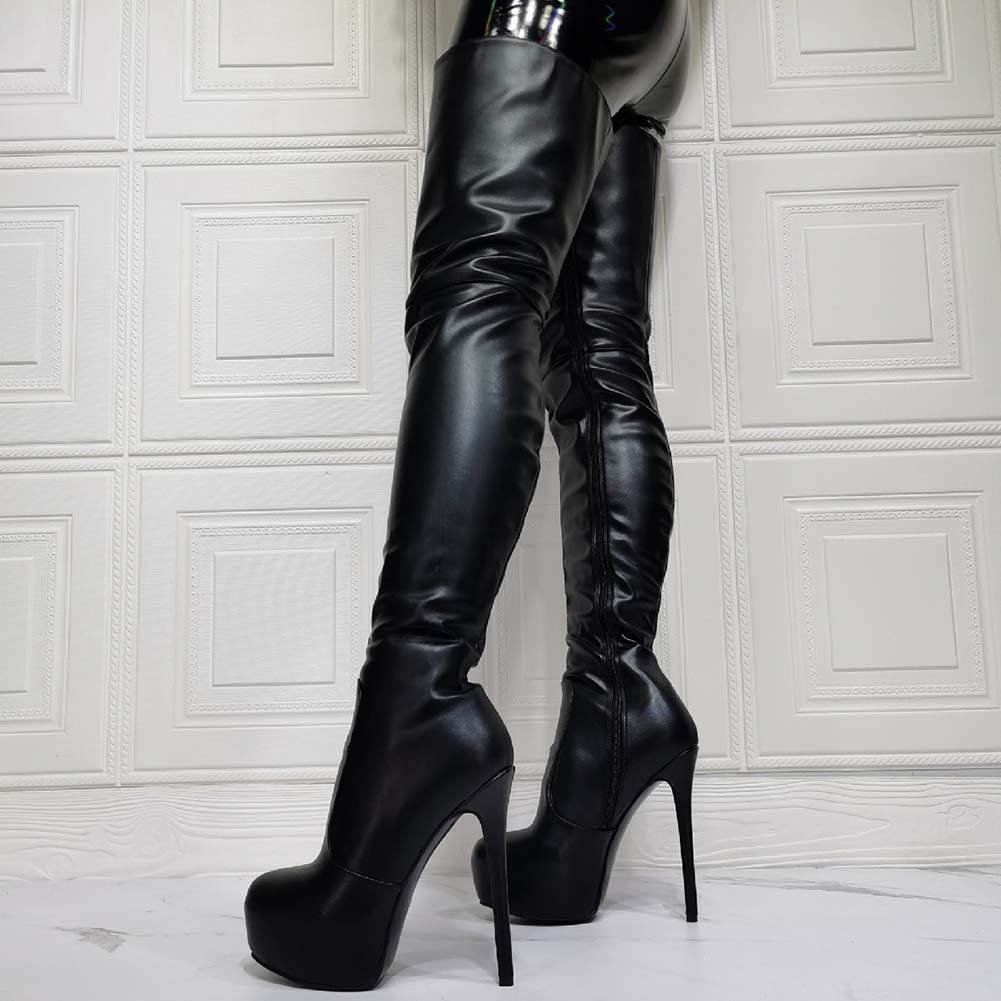 ماركة بيع منصة القطب الرقص حجم كبير 47 تخصيص أحذية النساء مثير الوثن المتطرفة عالية الكعب الفخذ أحذية عالية الحفلات الإناث