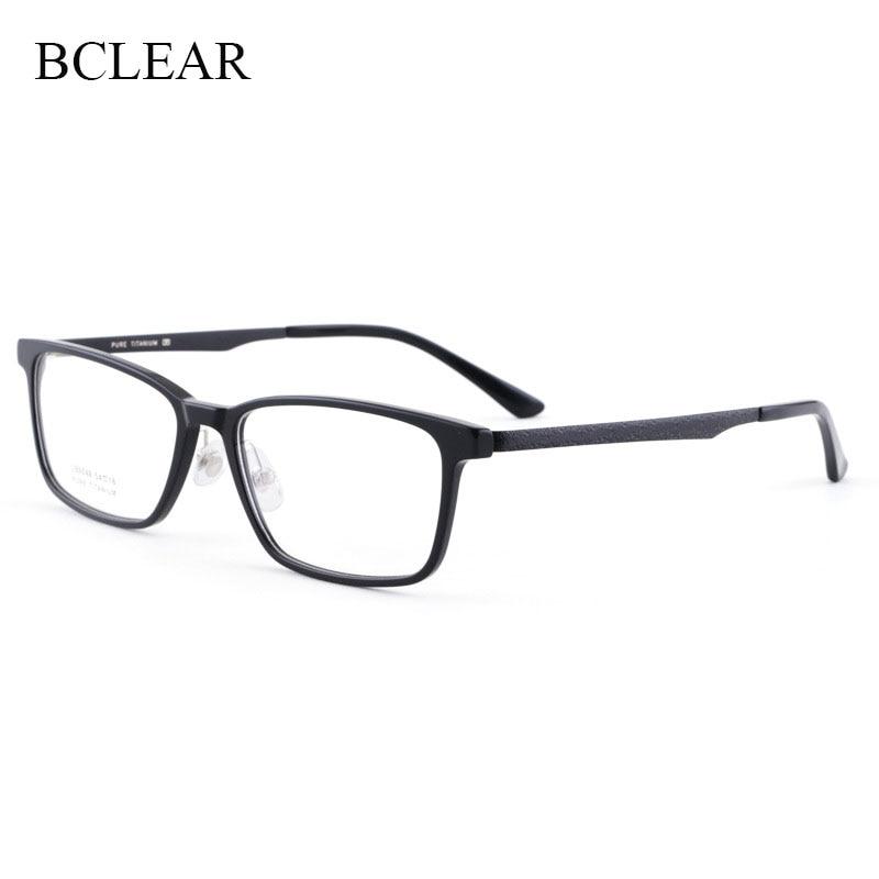 BCLEAR-نظارات بصرية للرجال ، نظارات بصرية عصرية كورية ، إطار خلات ، أرجل تيتانيوم ، إطارات سوداء ، عتيقة