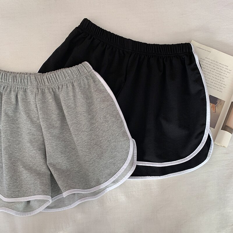 Summer Black Loose Casual Shorts for Women 2021 New High Top Sports Outdoor Wear Home Gray Wide-Leg