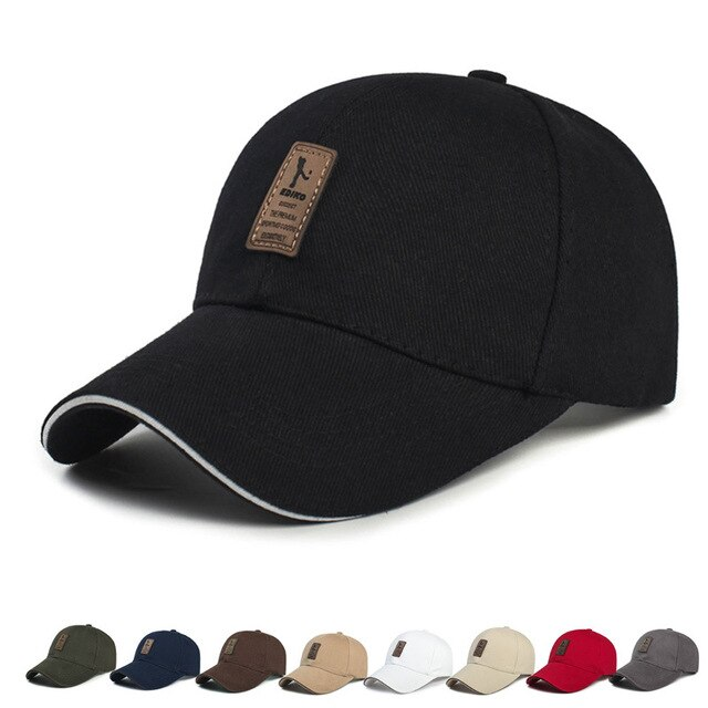 2020 New Luxury Men's Adjustable Baseball Cap Casual Leisure Hats Fashion Boy Snapback Hat Caps Outdoor Warm Thicken Fitted Cap