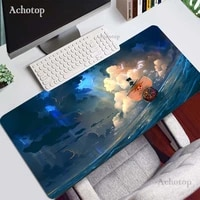 anime one piec gaming mouse pad pc mousepad game pad mouse large cartoon rubber mouse pad keyboard with lock edge computer mat