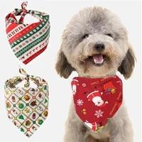 adjustable pet neckerchief scarf 5 colors cat dog bandana bibs scarf collar waterproof saliva towel for small medium large dogs