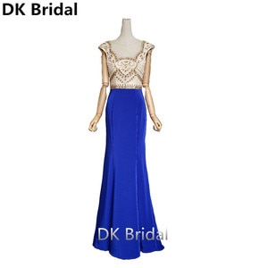 Royal Blue Formal Evening Dresses Long 2019 Exquisite Beaded Mermaid Long Party Gowns Robe Soiree Sexy New Arrivals
