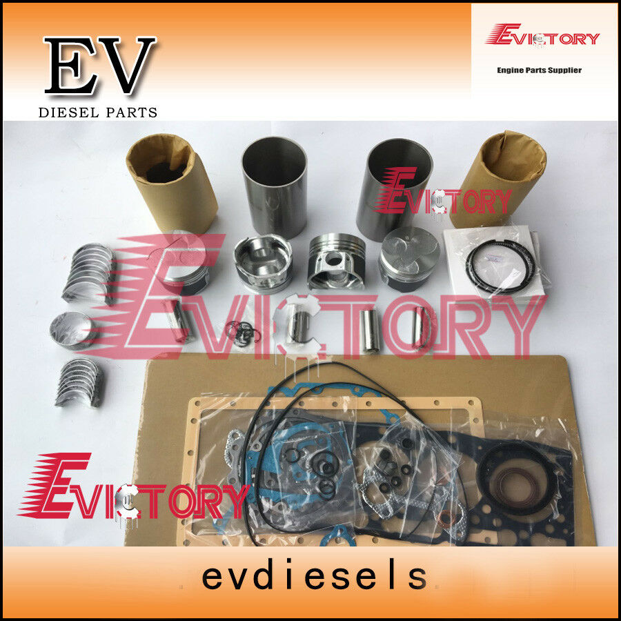 Para kubota V1305 V1405 pistón + revestimiento de cilindro para anillo Junta kit Válvula de rodamiento