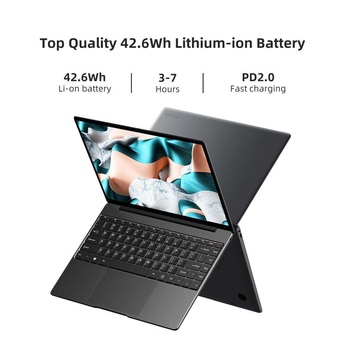 CHUWI CoreBook X Intel Core i5-8259U Laptops 14 Inch 2160x1440 Resolution DDR4 8GB 512GB SSD Winddows 10 Computer 46.2W Battery 10