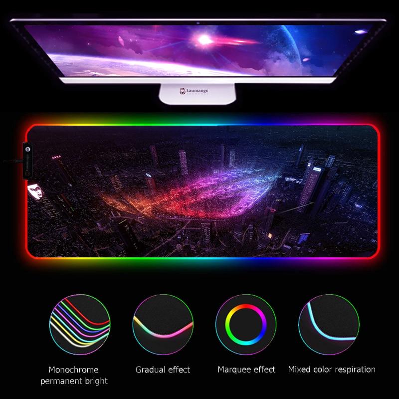 Alfombrilla para ratón RGB ASUS ROG, accesorios para juegos, luz LED, para...