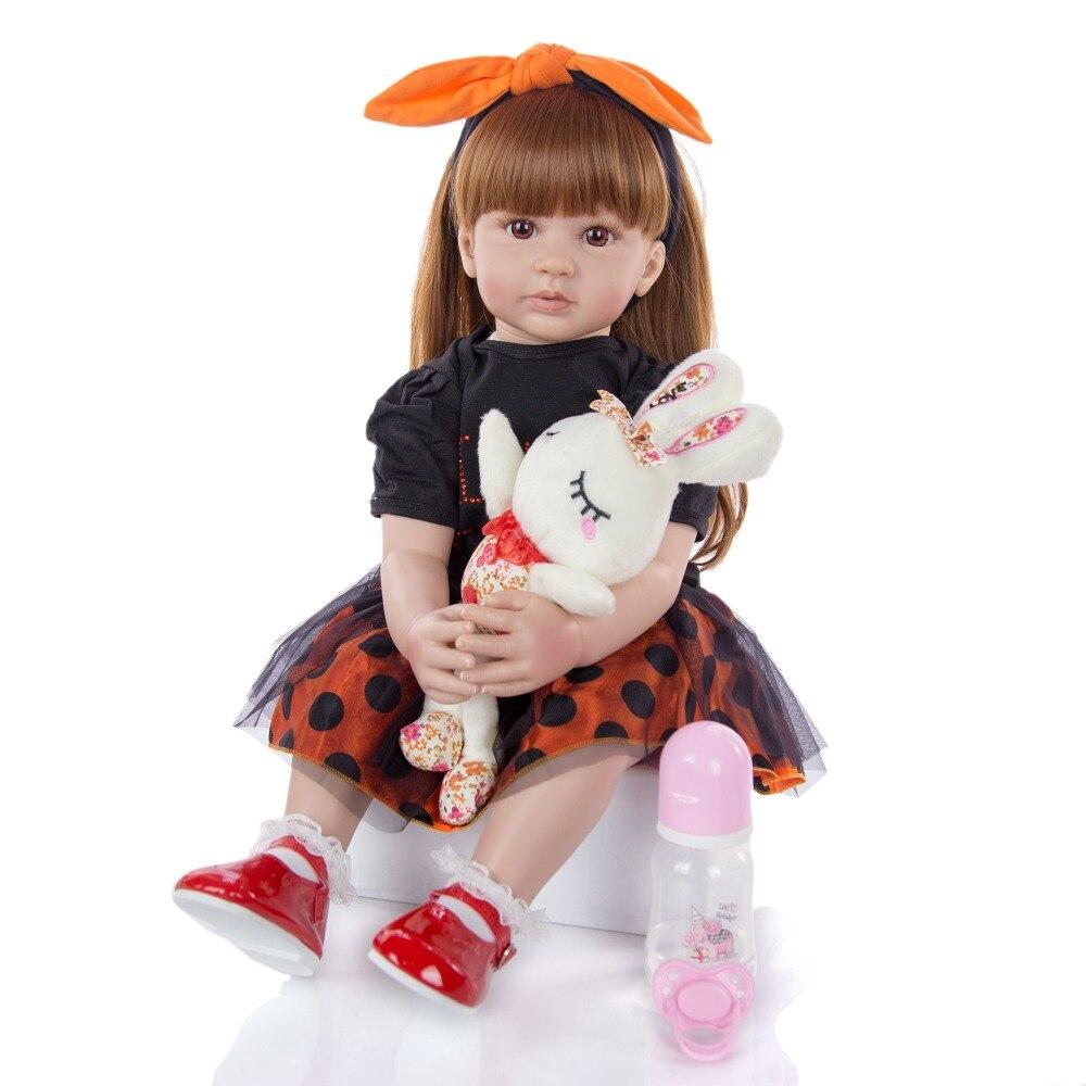 Hecho a mano 24 pulgadas bebé niña muñecas cuerpo relleno 60 cm princesa Reborn bebés juguete para Cumpleaños de Niños regalos