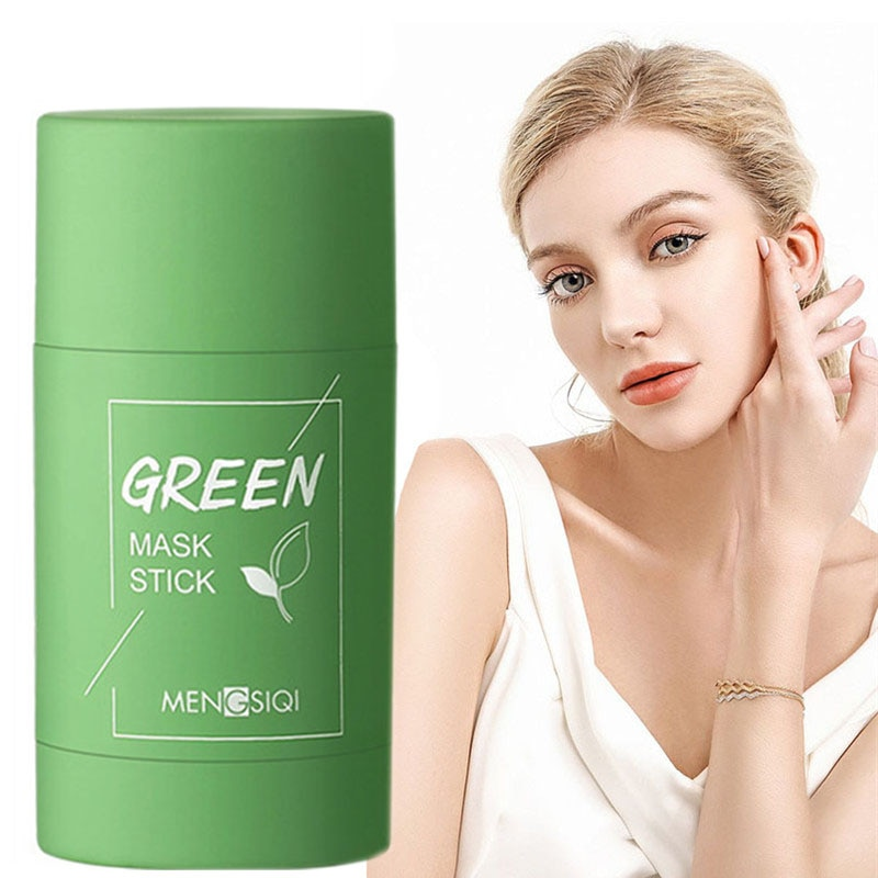 Green Tea Mask Stick Anti Acne Removal Blackhead Shrink Pore Oil Control Moisturizing Hydrating Whitening Face Mask Skin Care недорого