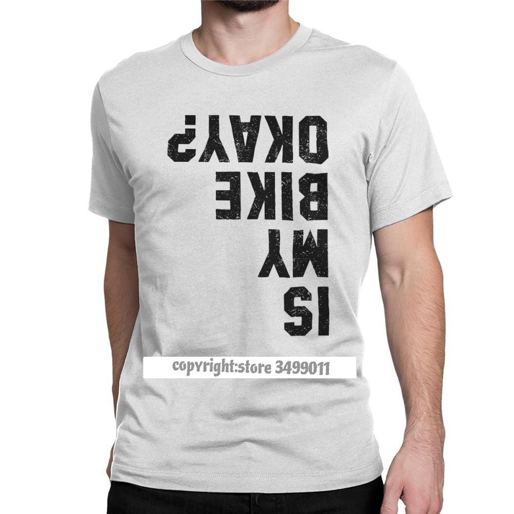 É a minha bicicleta ok engraçado ciclismo tshirts bicicleta motocicleta motociclista tshirt homem novo estilo roupas novidade camiseta puro algodão t