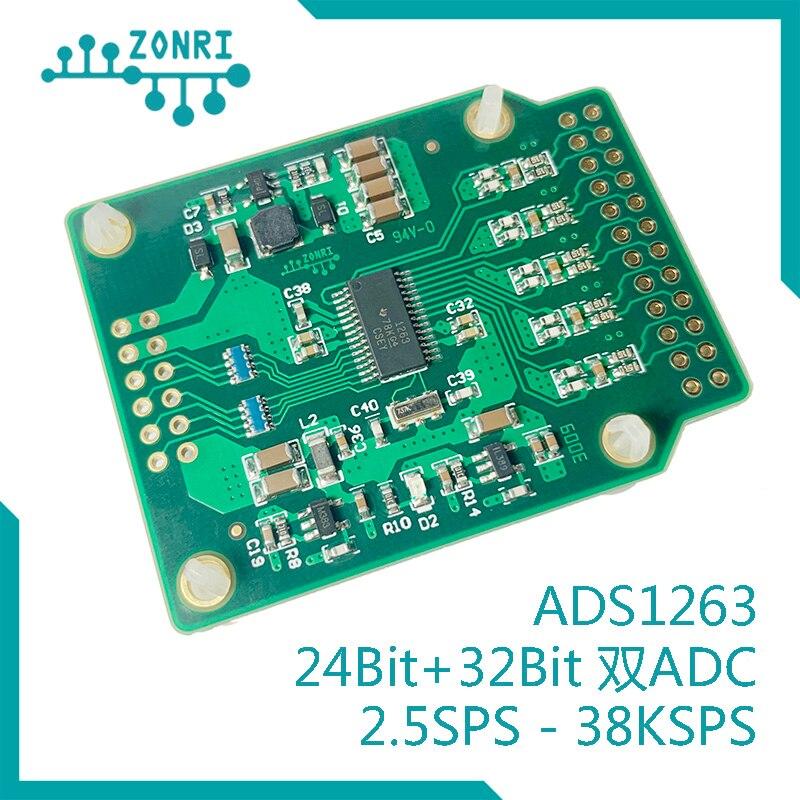 Ads1263 32bit Hohe Präzision ADC Modul/24bit + 32bit Dual ADC / AD Umwandlung 38,4 ksps
