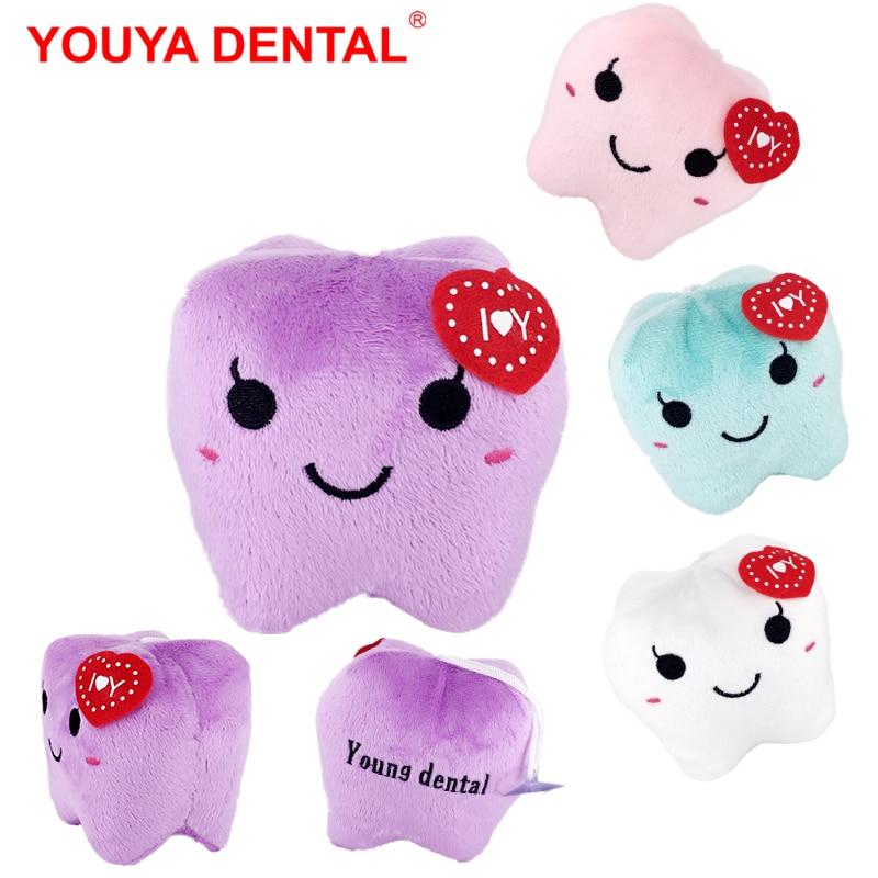 2 шт., 8x10 см, милая кукла, мягкие игрушки, плюшевые куклы для девочек, мальчиков, пар, кавайная форма зубов, Молодежные зубные мягкие игрушки
