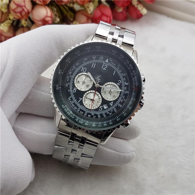 Men Watches Brand Luxury Silicone Strap Waterproof Sport Quartz Chronograph Military Watch Men Clock