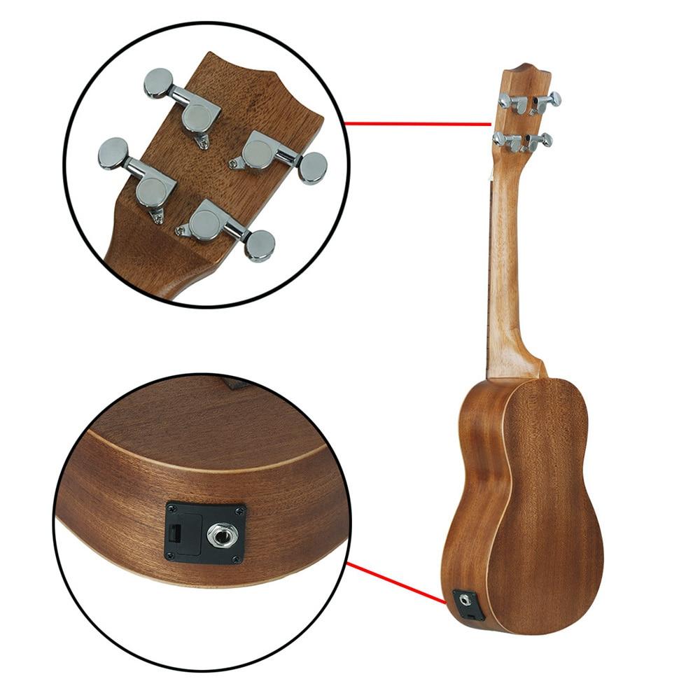IRIN 24 Inch Ukulele With EQ 4 Strings Hawaiian Guitar Sapele Hollow Carved Flower Electroacoustic Ukulele Musical Instrument enlarge