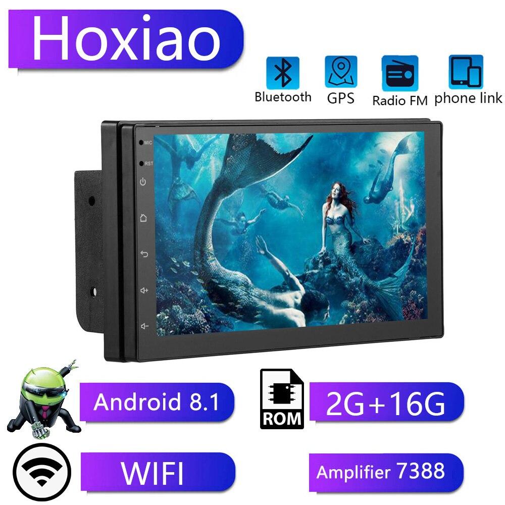 Android 8.1 7 inch 2G+16G Double Din Universal Car Radio GPS Multimedia Unit Player For TOYOTA Nissan Kia RAV4 Honda VW Hyundai