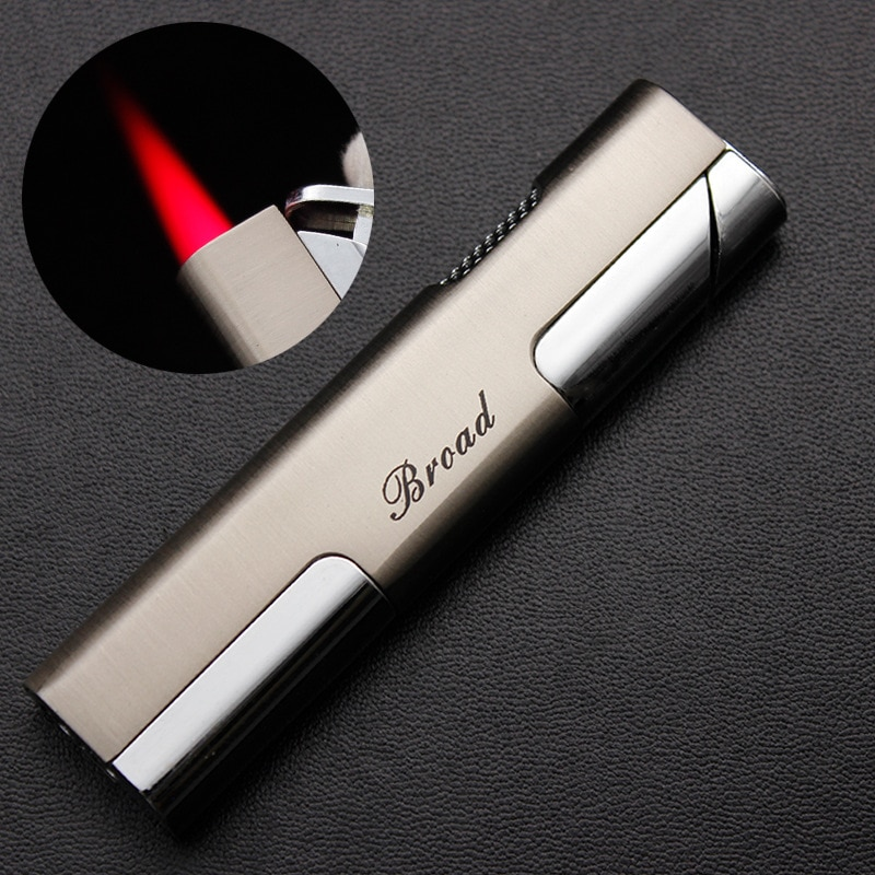 Mini Metal Electronic Gas Lighter Cigar Smoking Lighters Jet Torch Turbo Lighters Cigarettes Accesso