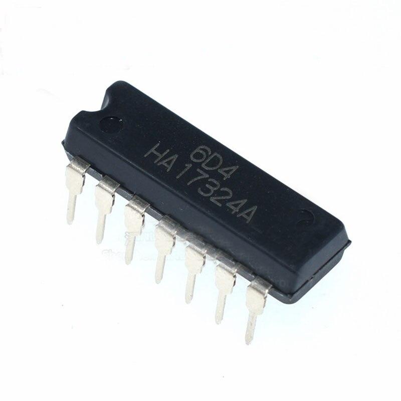 10pcs/lot New original HA17324A op amp chip In-line DIP-14 HA17324