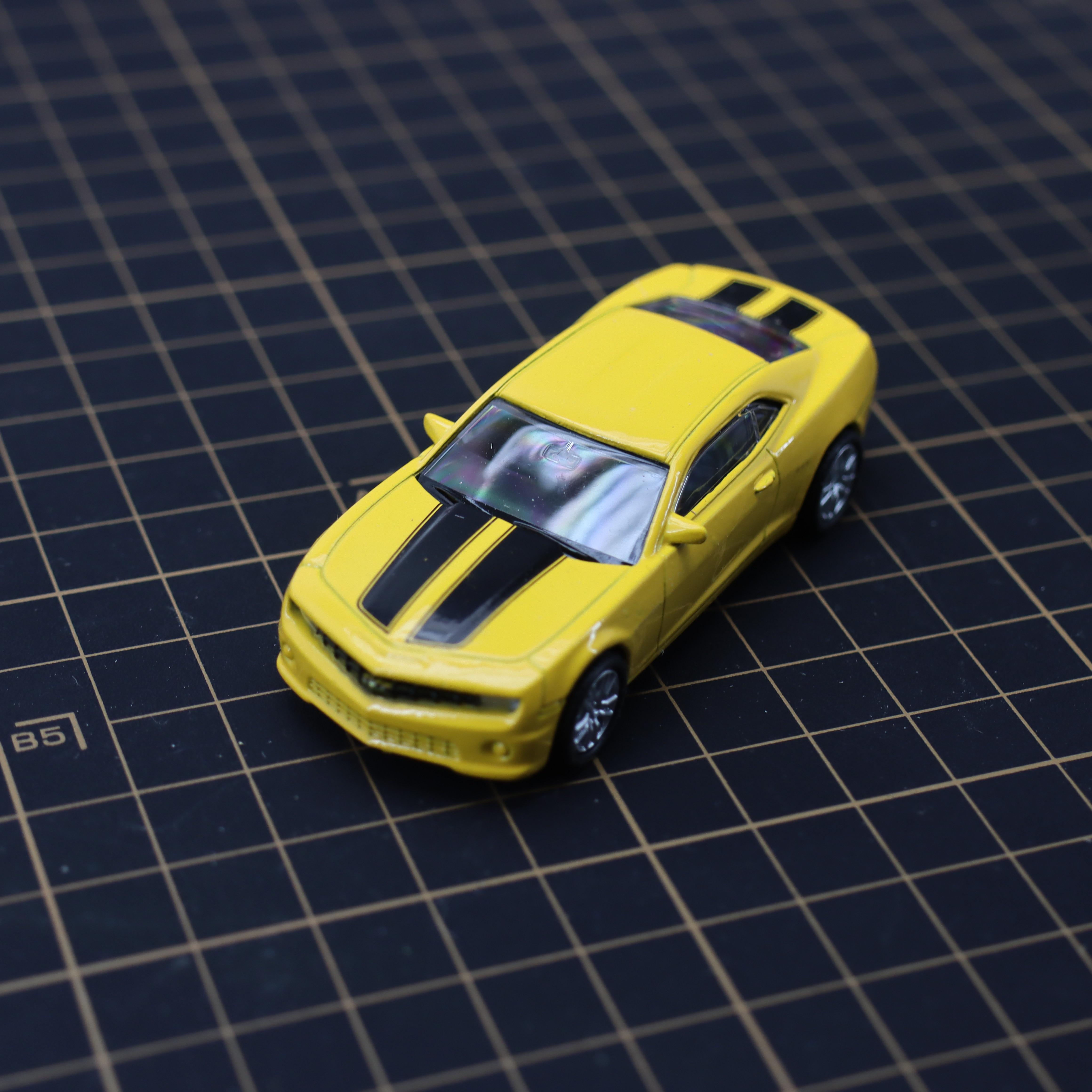 Diecast liga de brinquedo carro camaro 1/64 puxar-voltar-móvel