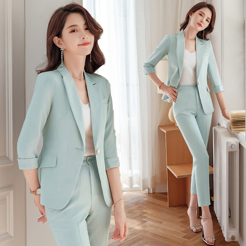 High-End Small Suit Outfit Female Spring/Summer 2021 New Style Korean Casual Fashion Western Style Y