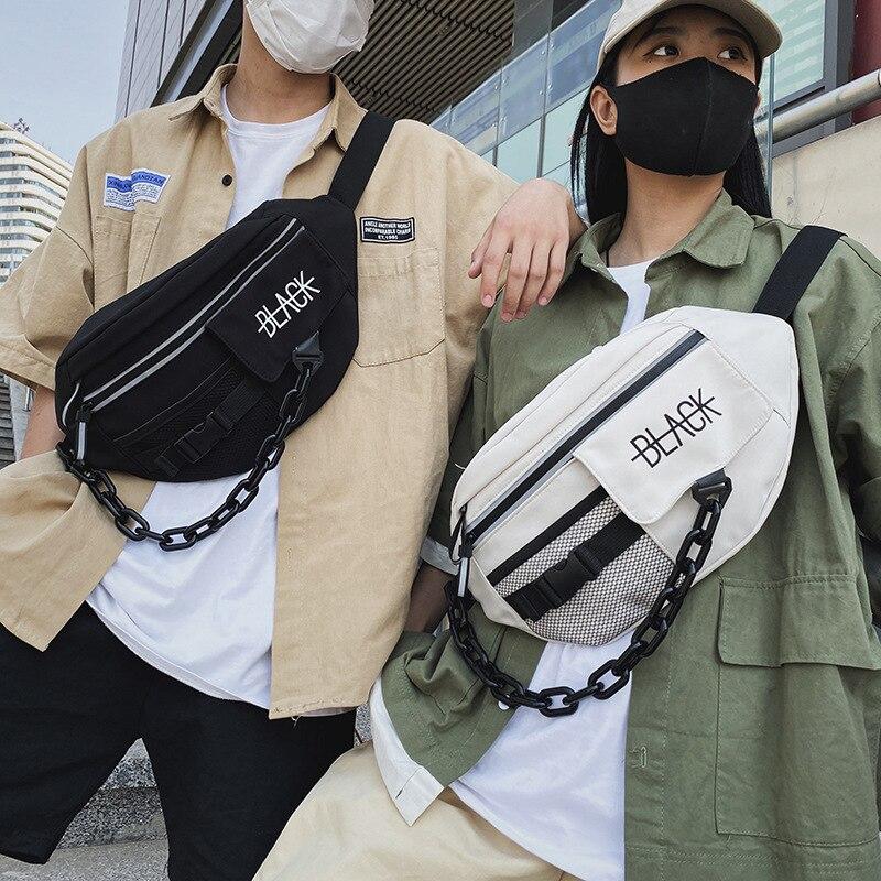 South Korea ins street backpack girl messenger bag Japanese Harajuku ancient feeling disco chest bag tooling shoulder