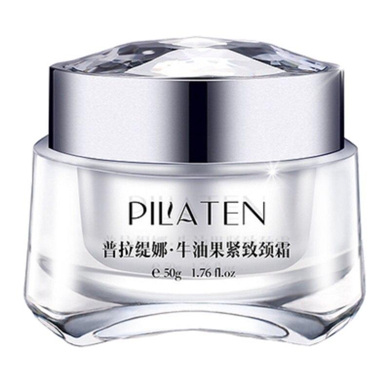 Pilaten-Crema para el cuello de aguacate, mascarilla para eliminar las arrugas, reafirmante y blanqueador del cuello, mascarillas para el cuidado de la piel delicadas y resbaladizas