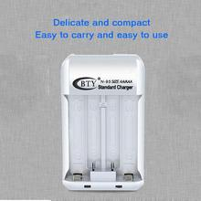 Cargador de pilas estándar para el hogar recargable 2 ranuras Ni-MH AA/AAA N95 enchufe de la UE cargador de batería Dual para batería AA/AAA de 1,2 V