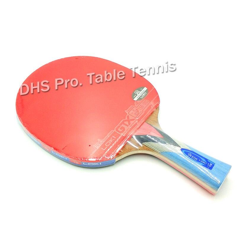Raqueta de tenis de mesa LOKI Wenge de madera, raqueta de tenis de mesa de carbono, raqueta de tenis de mesa ofensiva, raquetas de Ping Pong, raqueta de tenis de mesa