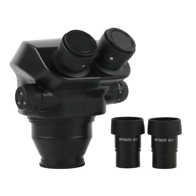 7X-45X / 7X-50X مجهر ستيريو مجهر ثنائي العينين رئيس + 0.5X 2.0X 1X 0.7X 0.75X 0.3X 1.5X بارلو الهدف عدسة المجهر