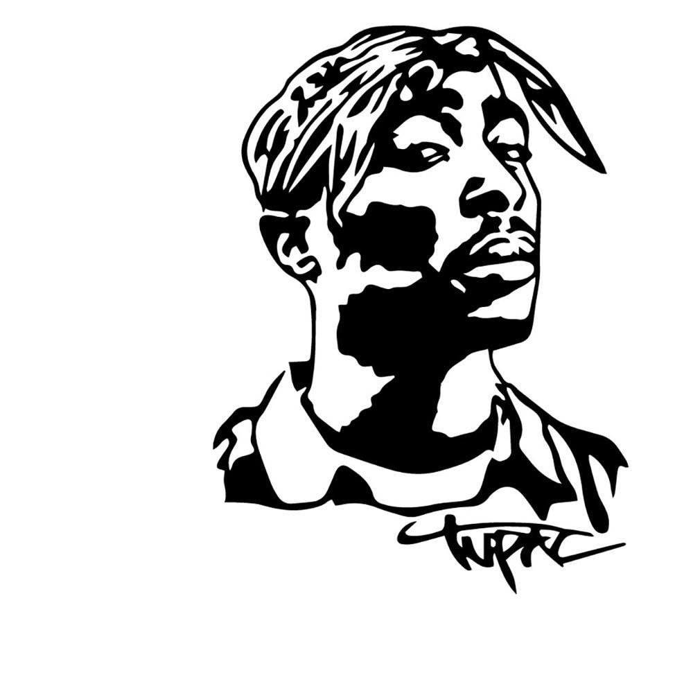 LLY-0115 Популярные автомобильные наклейки в стиле «хип-хоп» музыканта моделирование Наклейка ПВХ креативное искусство Водонепроницаемый сам...