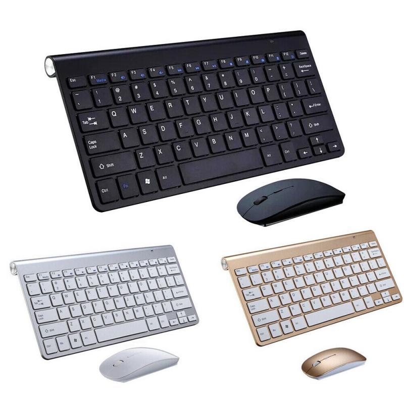מיני אלחוטי מקלדת ועכבר סט עמיד למים 2.4G עבור אפל מחשב מחשב