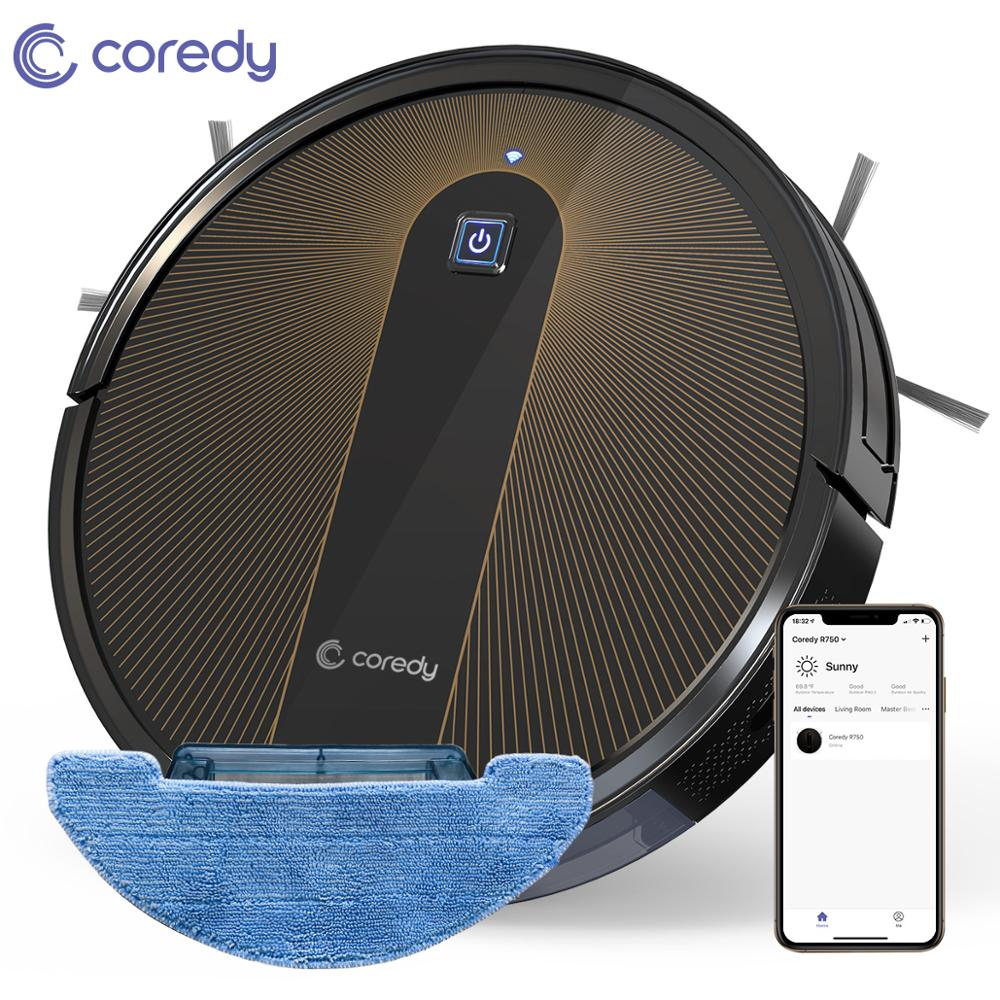 Coredy R750 Robot Vacuum Cleaner Smart Dry Wet Mopping Floor Carpet Auto Charge Home with Google Wifi Docking Station Best Life