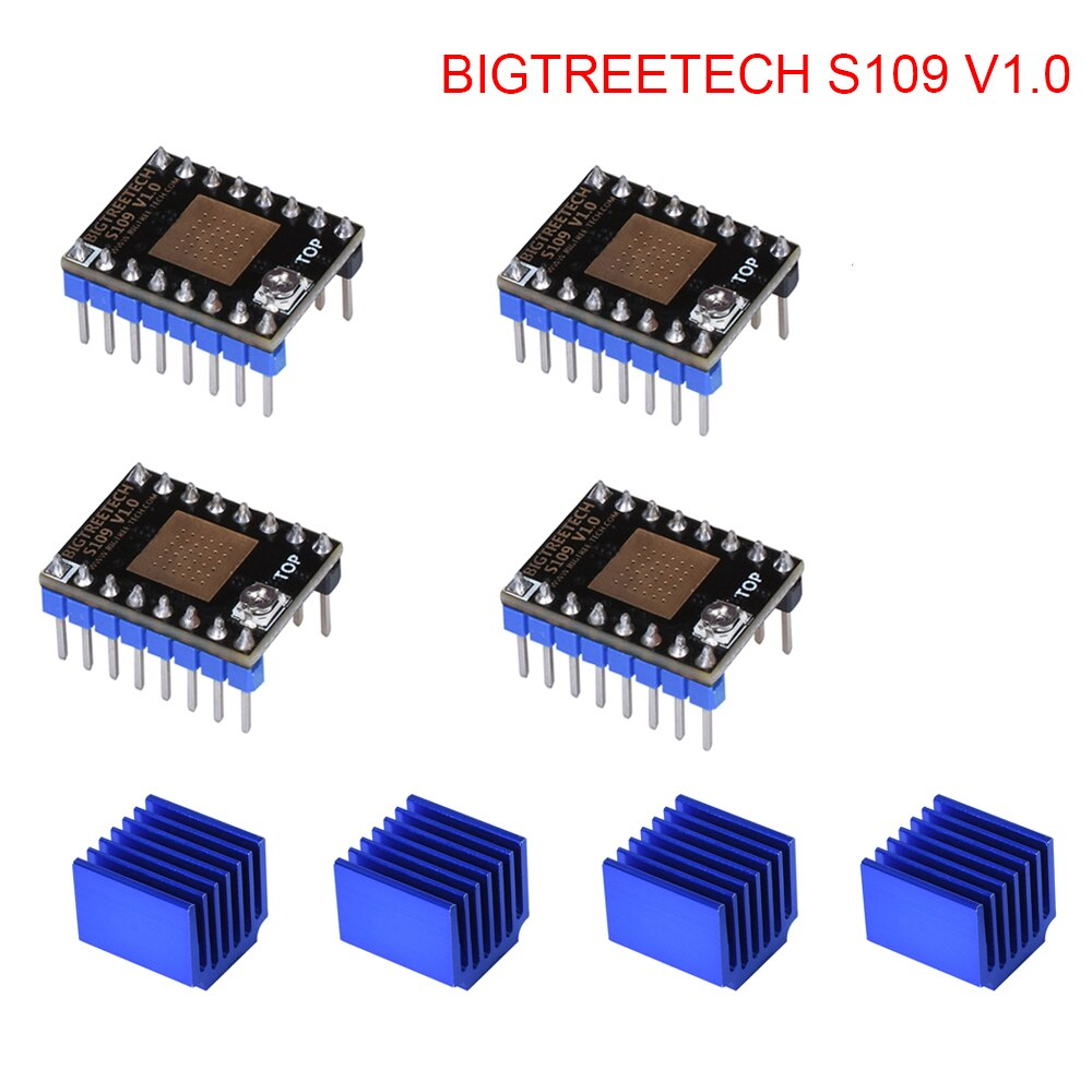 BIGTREETECH S109 V1.0 controlador de Motor paso a paso TB67S109 piezas de impresora 3D controlador paso a paso para tarjeta de controlador de impresora 3d