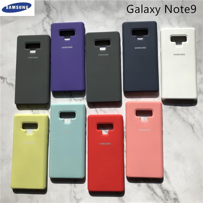 Funda de silicona líquida Original para Samsung Galaxy Note 9, carcasa suave y sedosa para Galaxy Note9, funda protectora trasera completa