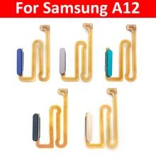 New For Samsung Galaxy A12 A125 A125F Home Button Fingerprint Sensor Flex With Power Key Button Flex