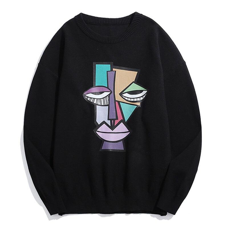 Мужской пуловер, мужские свитеры, Мужская одежда, свитер с узором для мужчин, черный свитер, мужской комфорт, Повседневная мода 2021, новинка