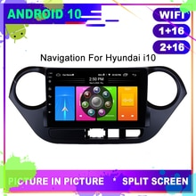 OTOJETA Auto Radio Android 10 GPS Navigation für HYUNDAI i10 2013 2015 Kopf Einheit USB Stereo Multimedia Player Internet Full touch