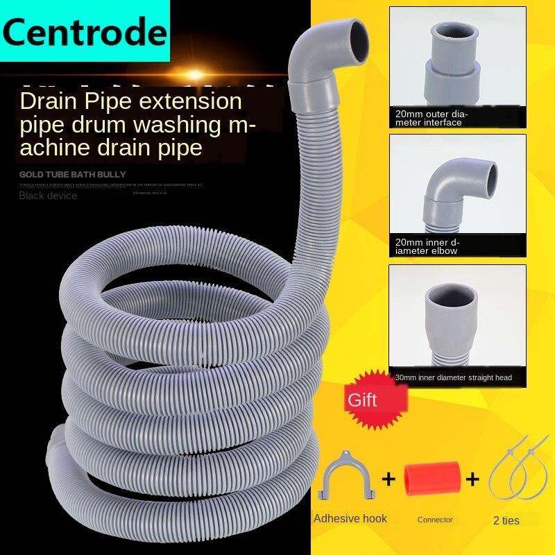 Manguera de fontanería, manguera de drenaje para lavadora, manguera de desagüe alargada con interfaz de 1,5/2/3/4 metros, manguera de salida para tubería de alcantarillado