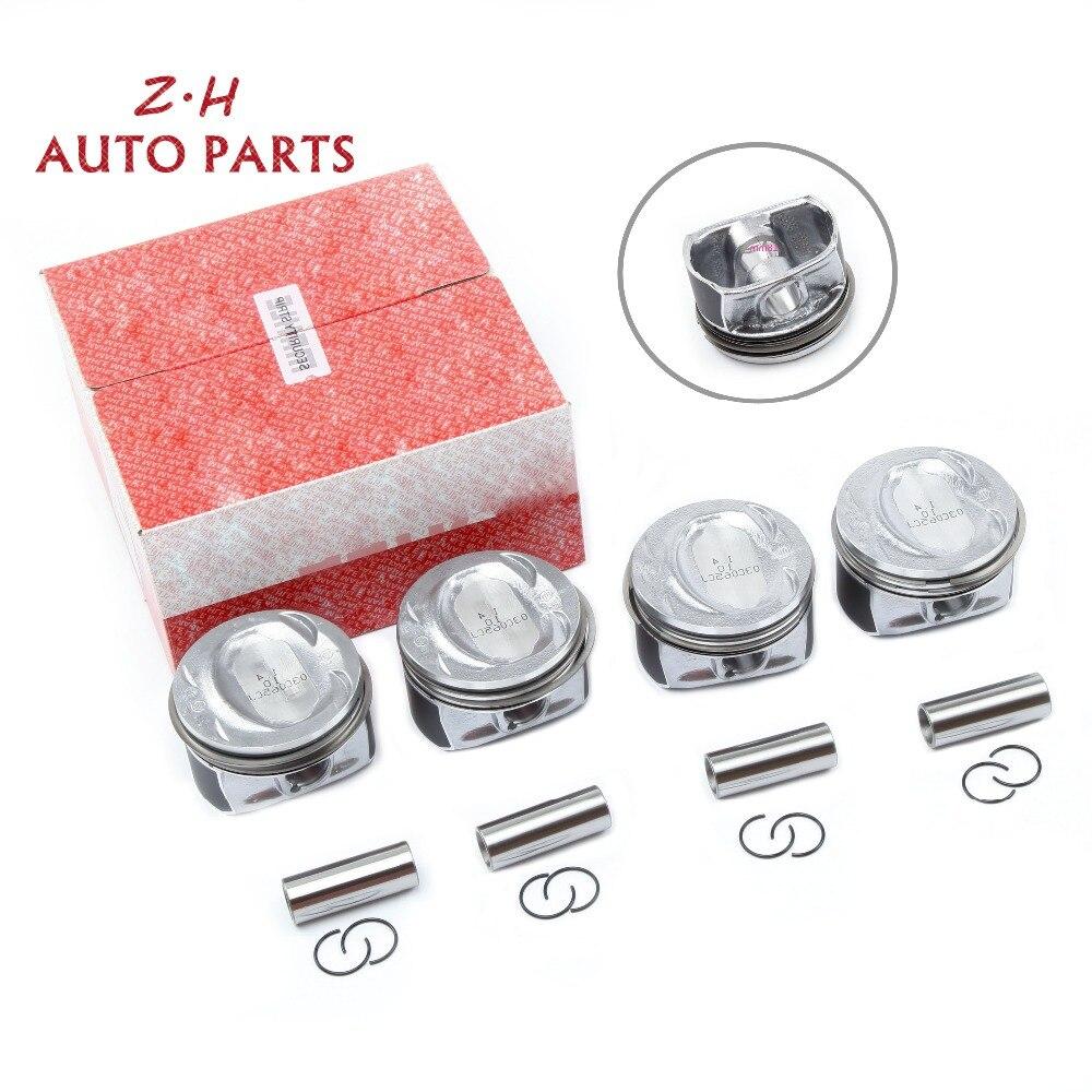 NEW EA111 Engine Piston & Ring Set 03C 107 065 AP For Audi A1 A3 S3 VW Golf Jetta Passat Tiguan Seat Skoda 1.4TSI CAXA CAXC