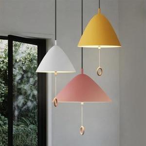 Nordic LED Modern Pendent Lights Kitchen Home Decoration Hangin Lamps Children's Room Light Fixtures Restaurant Bedroom Lighting